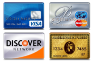 We Accept Visa MasterCard Discover and American Express in 94913