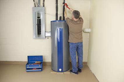 San Rafael water heater repair professional at work