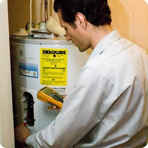 plumber in San Rafael checsk the inlet water temperature on a water heater